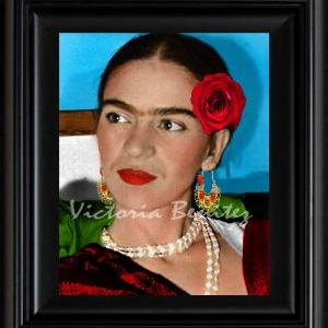 FRIDA KAHLO day of the dead LA ROSA..