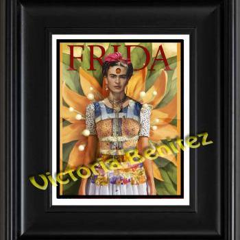 FRIDA KAHLO day of the dead SUNFLOWER digital oil painting design 8