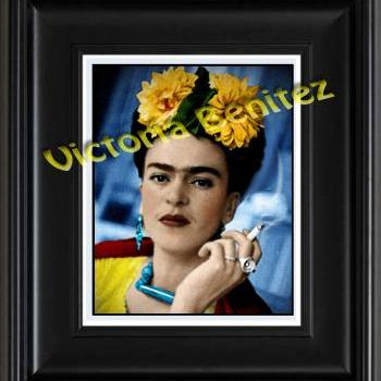 FRIDA KAHLO day of the dead CEMPAZUCHILES digital oil painting design 8