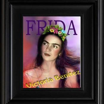 FRIDA KAHLO day of the dead IN PINK digital oil painting design 8