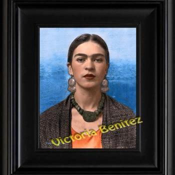 FRIDA KAHLO day of the dead REBOZO DE BOLITA digital oil painting design 8