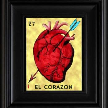 FRIDA KAHLO day of the dead LA LOTERIA EL CORAZON CARD digital oil painting design 8