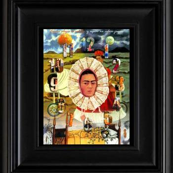 FRIDA KAHLO day of the dead EL RELOJ digital oil painting design 8